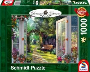 Blick in den verwunschenen Garten Puzzle 1000 Teile Dominic Davison