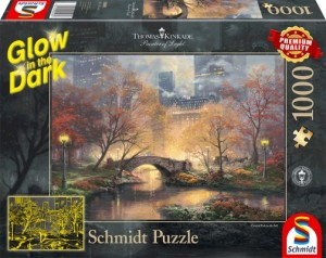 Central Park im Herbst, Glow in the Dark Puzzle 1000 Teile Thomas Kinkade