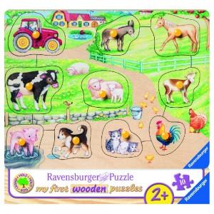 Morgens auf dem Bauernhof My first wooden puzzles 7-10 Teile