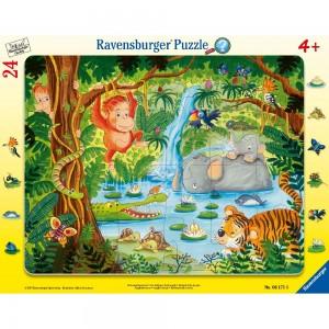 Dschungelbewohner 24 Teile Rahmenpuzzle