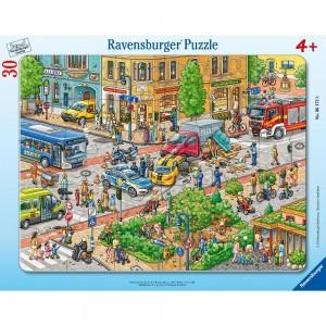 Unterwegs in der Stadt 30-48 Teile Rahmenpuzzle