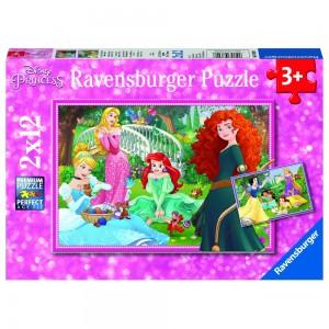 DPR: In der Welt der Disney Prinzessinnen 2 x 12 Teile Puzzle