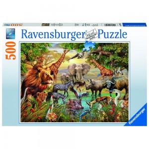 Am Wasserloch Puzzle 500 Teile
