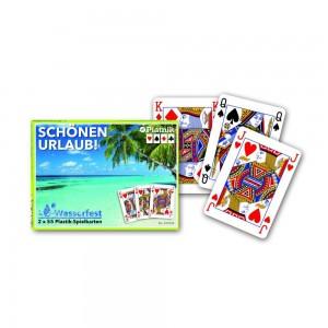 Schönen Urlaub, 2x55 Plastik-Spielkarten