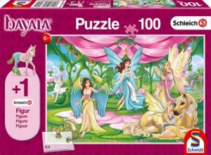 Im Kronsaal von Bayala, Schleich Puzzle 100 Teile (Figur Surahs Federfohlen)