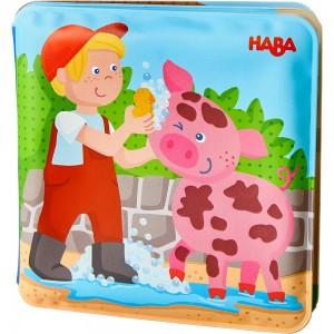 Badebuch Waschtag bei Schwein & Kuh HABA