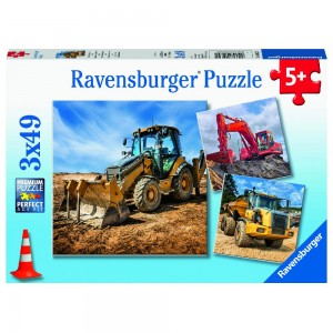 Baufahrzeuge im Einsatz Puzzle 3 x 49 Teile