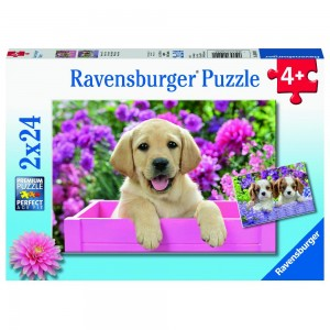 Freunde mit Fell Puzzle 2 x 24 Teile