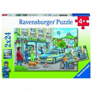 Unterwegs mit Polizeimeisterin Hannah Puzzle 2 x 24 Teile