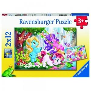 Magische Einhornwelt Puzzle 2 x 12 Teile