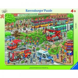 Einsatz auf der Straße Rahmenpuzzle 30-48 Teile