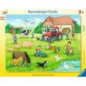 Sommertag auf dem Bauernhof Rahmenpuzzle 8-17 Teile