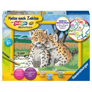 Kleine Leoparden Malen nach Zahlen Serie D