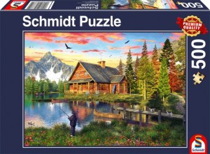 Angeln am See Puzzle 500 Teile