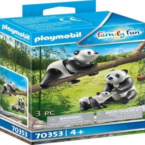 2 Pandas mit Baby Playmobil