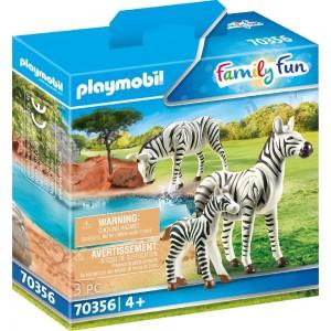 2 Zebras mit Baby Playmobil 70356