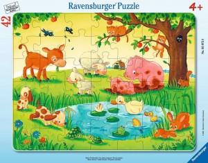 Kleine Tierfreunde Rahmenpuzzle 30-48 Teile