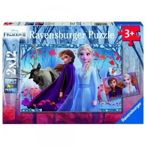DFZ: Frozen 2 Reise ins Ungewisse Puzzle 2 x 12 Teile