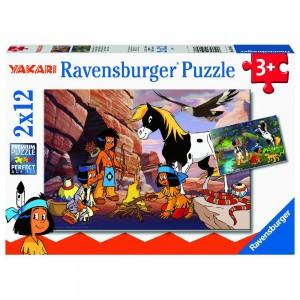 Unterwegs mit Yakari Puzzle 2 x 12 Teile