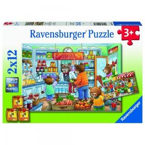 Komm, wir gehen einkaufen Puzzle 2 x 12 Teile