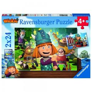 Unser kluges Köpfchen Wickie Puzzle 2 x 24 Teile