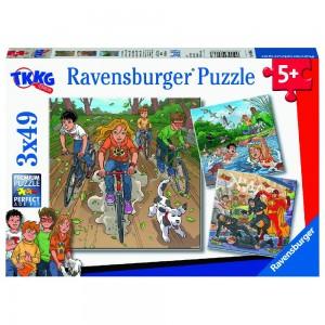 Abenteuer mit TKKG 3 x 49 Teile Puzzle