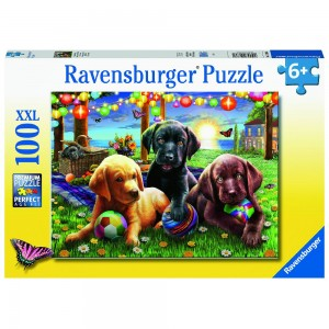 Hunde Picknick Puzzle 100 Teile XXL