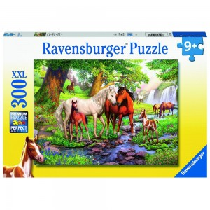 Wildpferde am Fluss Puzzle 300 Teile XXL