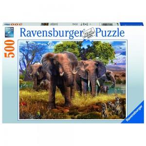 Elefantenfamilie Puzzle 500 Teile
