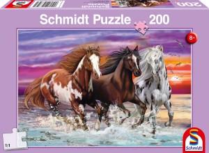 Wildes Pferde-Trio Puzzle 200 Teile