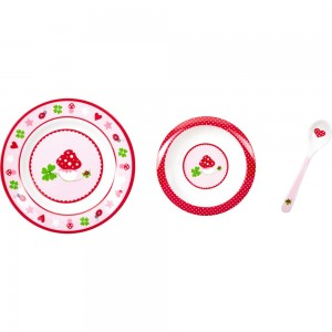 Mein erstes Geschirr rosa BabyGlück