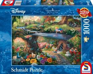 Disney, Alice im Wunderland, Puzzle 1000 Teile Thomas Kinkade