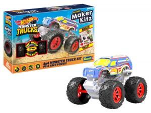 """Hot Wheels Monster Truck Maker Kitz """"Racing #1"""" 1:32"""