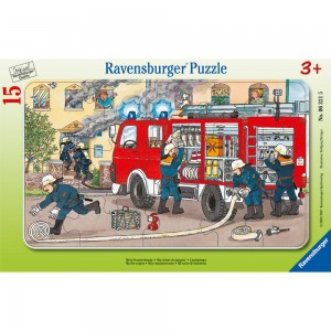 Mein Feuerwehrauto 15 Teile Rahmenpuzzle
