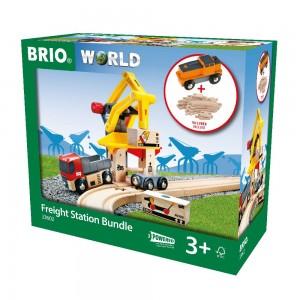 BRIO Super Bundle Frachtverladestation m. Batterielok