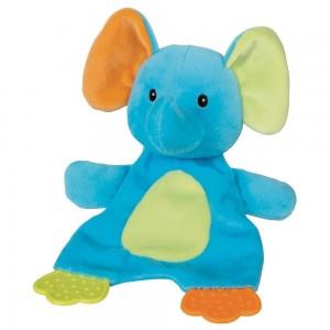 Beiß- & Plüschtier Elefant 22cm, zum Liebhaben & Spielen