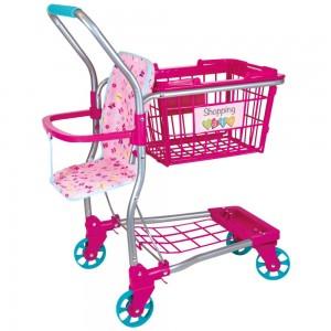 Einkaufswagen mit Puppentragesitz