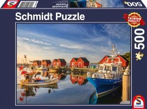Fischereihafen Weiße Wiek Puzzle 500 Teile