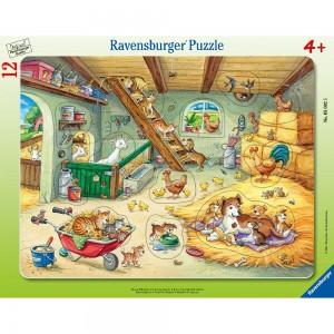 Bauernhofbewohner Rahmenpuzzle 8-17 Teile