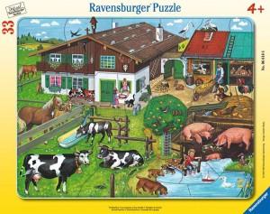 Tierfamilien 30-48 Teile Rahmenpuzzle