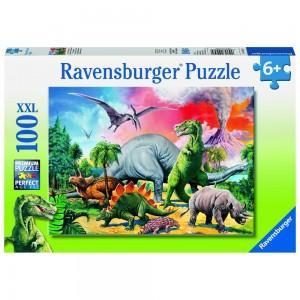 Unter Dinosauriern Puzzle 100 Teile XXL