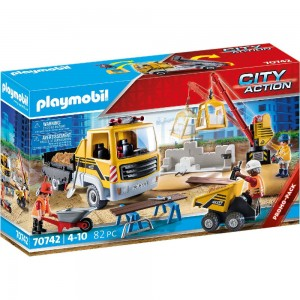 Baustelle mit Kipplaster Playmobil 70742