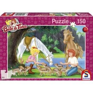 Am Steinbruch, Puzzle 150 Teile BIBI & TINA