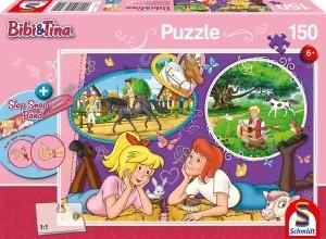 Freundinnen für immer, Puzzle 150 Teile BIBI & TINA, mit Add-on (Slap Snap Band rot)