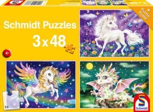 Fabeltiere Puzzle 3x48 Teile