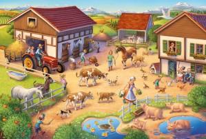 Lustiger Bauernhof, Puzzle 40 Teile, mit Add-on (Bauernhof-Set)