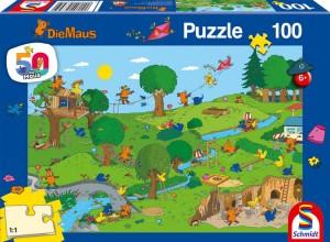Die Maus-Im Spielpark, Puzzle 100 Teile