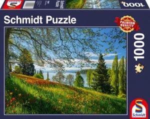 Frühlingsallee zur Tulpenblüte, Insel Mainau Puzzle 1000 Teile