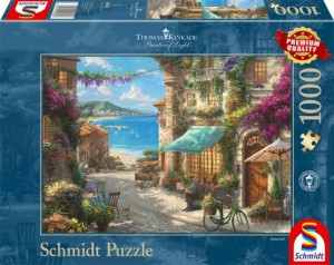 Café an der italienischen Riviera Puzzle 1000 Teile Thomas Kinkade