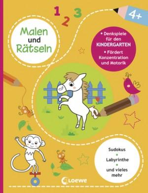 Malen und Rätseln - Denkspiele für den Kindergarten (4+)